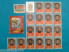 PANINI WM WORLD CUP SOUTH AFRICA 2010 TEAM NEDERLAND COMPLETO