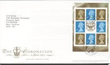 GB 2003 FDC Perfect Coronation booklet pane SG1664o Edinburgh postmark stamps