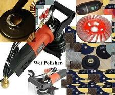 "Wet Concrete Sander Dustless Technologies 4"" Polishing 35 Pad 3 Cup Granite"