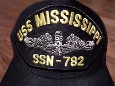 USS MISSISSIPPI SSN-782 U.S NAVY SHIP HAT MILITARY OFFICIAL BALL CAP U.S.A MADE