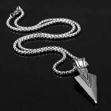 Silver/Gold Fashion Necklace Men's Stainless Steel Arrow Chain Biker Pendant Hot