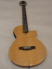 "JOHNSON JG-50 CHAMBERED 2"" THICK THIN BODY ACOUSTIC ELECTRIC GUITAR GLOSS NAT"