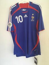 FRANCE 2006 WORLD CUP #10 ZIDANE PLAYER ISSUE FORMOTION AUTHENTIC SHIRT