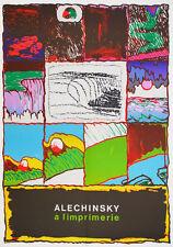 Pierre ALECHINSKY Affiche poster lithographie lithograph A l'imprimerie COBRA *