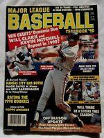 1990 Major League Baseball Yearbook Magazine Will Clark Giants cover