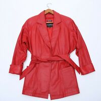 WILSONS THINSULATE RED LEATHER JACKET WOMEN'S SIZE XS