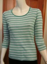 SPORTSCRAFT 3/4 SLEEVES T-SHIRT Size XS new casual green/white  in colour