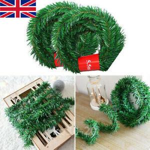 5.5m (18ft) Green Colorado Garland Xmas Decor Artificial Pine Wreath Swag UK