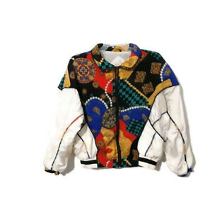 Padded 80/'s Vintage Blazer Dividends Jacquard Victorian Floral Paisley Jacket Long Sleeve Secretary M  8-10 Us Classic women/'s Jacket Office