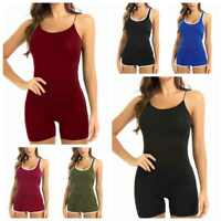 Women Bodycon Bandage Bodysuit Playsuit Gym Yoga Sports Jumpsuit&Romper Shorts