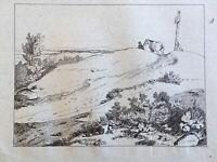 Très beau Grand Dessin d après Charlet encre original 1850 signé cheval