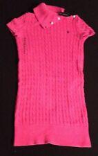Polo Ralph Lauren Niñas Vestido De Punto Trenzado Rosa XL (16Y) RRP £ 89 ahora £ 44.50