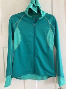 Novara cycling jacket womans med EUC full zip hoodie reflective biking