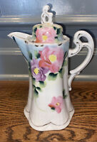 Vintage Hand Painted Porcelain Pitcher Made In Japan
