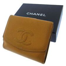Chanel Wallet Purse Folding wallet COCO Brown Woman Authentic Used Y1948