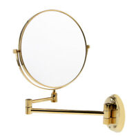 Wall Mount Double Sided Shaving Makeup Vanity Mirror 1X 3X Magnifying 8 Inch