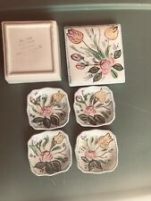 Blue Ridge Southern Potteries Cigarette Trinket Box w/Lid And (4) Small Dishes