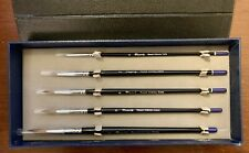 New Creative Mark Rhapsody Kolinsky Sable Artist 5 Paint Brush Set Case Msrp$179