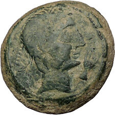 CASTULO Spain 2nd Century BC Male Sphinx Authentic Ancient Greek Coin  i52381