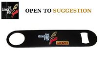 The Ginger Fox Bar Blade Bottle Opener - Open To Suggestion Logo Stainless Steel