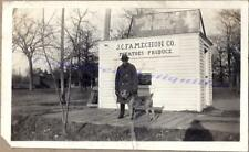 1920s Mn Famechone Produce Star Brand Shoes Sign Man & Irish Terrier Dog Photo