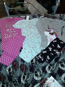 Carter's 3 Size 8 Pjs Set Girls NWT..All 3 sets low price.