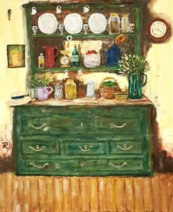 """Old Cottage Hutch"" Original Painting- De Martino Art"