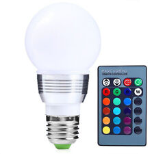3W E27 Multi Color LED RGB Magic Spot Light Bulb Lamp Light with Remote Control