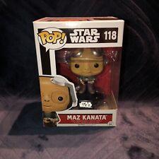 Star Wars Fuerza despierta-Maz Kanata no Gafas FUNKO POP Vinilo Figura #118!