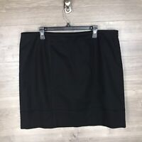 Michael Michael Kors Women's Plus Size 18W Pencil Skirt Black Cotton Blend