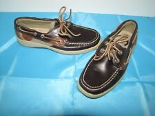 Sperry TopSider 'Bluefish' Brown Moc Loafers - Boy's 5.5M Euro. 21 Mint!