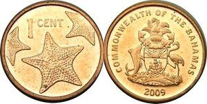elf Bahamas 1 Cent 2009  3 Star Fish