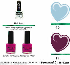 KIT SMALTI + NAIL BITTER NEW Summer Collection KyLua Made in Italy Nails Polish