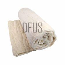 white cotton wool felt upholstery filling * wadding * padding Full roll 15 metre