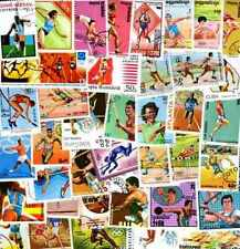 Athlétisme - Athletics 500 timbres différents oblitérés
