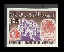Mauritania International Criminal Police Organization Imperforated Proof ** 1973