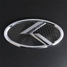 Carbon Fiber Chrome K Logo 150mm Trunk Emblem Decal For Kia Sedona Soul Fits 2007 Sportage