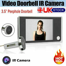"""UK 3.5"""" LCD Digital Peephole Viewer Door Eye Doorbell HD Camera Home Door Bell"""