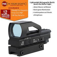 Léger rouge et vert dot reflex sight/weaver rail 4 réticule holographique sight