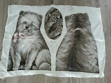 Tatters Dog 1892 Rare Arnold Textile Dog Pillow