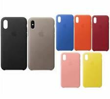Original Apple iPhone X  Leder Case Cover Schutz Hülle  Originalverpackung