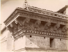 Italie, Sienne, Siena, Palazzo Piccolomini  Vintage albumen print Tirage album