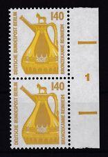 Berlin 1989 SWK postfrisch rechter Seitenrand  MiNr. 832  Bronzekanne, Reinheim