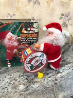 Vintage Musical Santa Claus Christmas Drummer In Box