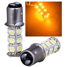 #1157 Amber 18 SMD LED 12V Tail Light Rear Brake Stop Turn Signal Lamp Bulb PAIR