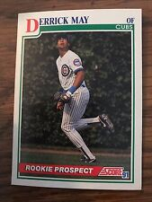 1991 Score Rookie Prospect Derrick May Chicago Cubs 379