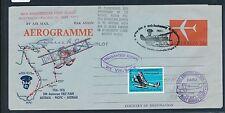 06853) CF Australia-Pacific 1976, signed Aerogramme Melbourne-d' altra parte