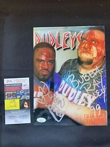 THE DUDLEY BOYS (BOYZ) Autographed ECW 8x10 Photo w/JSA AUTHENTICATION