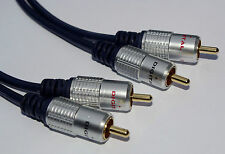 PRO Signal di alta qualità da 2 a 2 RCA PHONO FONO cavo audio 5m OFC