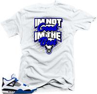 "Shirt to match Air Jordan Retro 4 Motorsport sneakers"" I'm the Best "" White tee"
